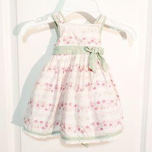 Bow Front & Tie Back Floral Dress 9M